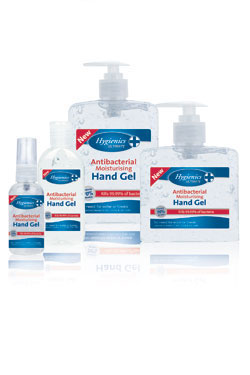 Hygienics Ultimate 70% Alcohol Hand Gel Range - Kills 99.99% of bacteria